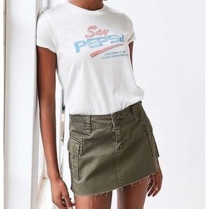 Urban Outfitters Green Cargo Mini Skirt